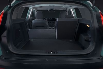 Trunk of the all-new Hyundai BAYON with 60-40 dividing.