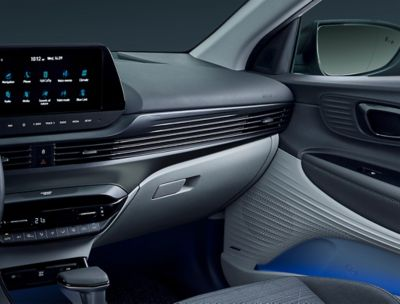The sleek dashboard of the all-new Hyundai BAYON.