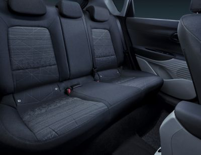 Rear seats of the all-new Hyundai BAYON.