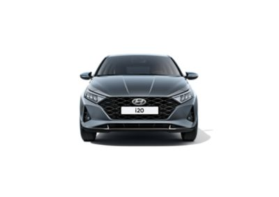 Close-up front view of the grille of the all-new Hyundai i20