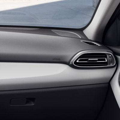 Detail of the new Hyundai i30 Fastback interior in Moss Gray, one of three new interior colours.